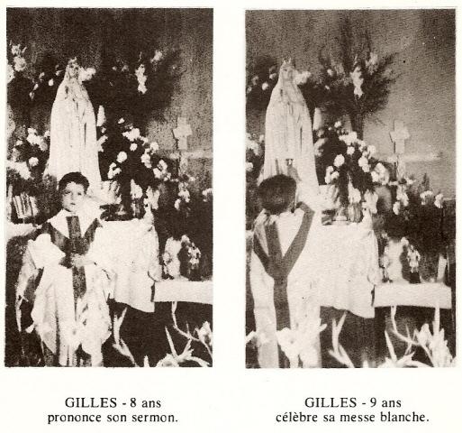 Prière au cher petit Gilles Messe